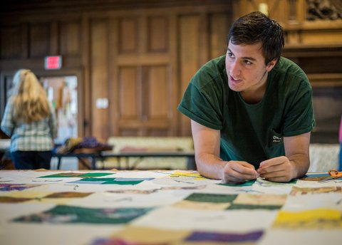 2014-01-20-student-participating-in-mlk-quilting-at-dartmouth-campus-ministry-photo