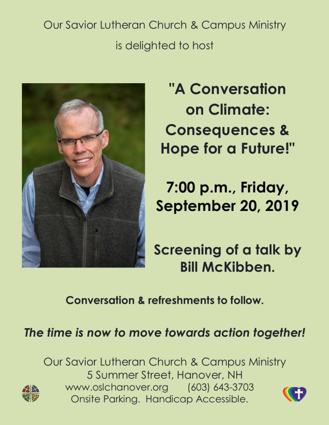 Climate Conversation in Hanover 2019-09-20