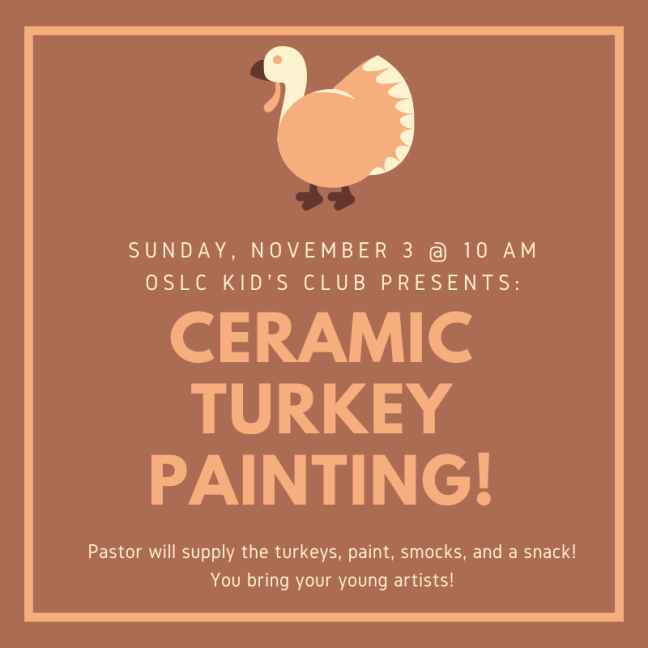 Ceramic Turkey Painting!